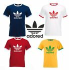 ADORED T SHIRT - RINGER STYLE - STONE ROSES - RETRO