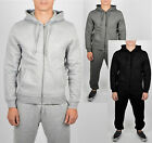Mens Black Grey Tracksuit Set Fleece Hoodie Top Bottoms Jogging Joggers Gym Sale