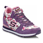 Skechers Womens Purple & Pink Retros OG 85 Hollywood Rose Mid High Trainers