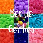 *3 FOR 2* Mix/Single Colour - 100/500/1000 Opaque Plastic Barrel Pony Beads 9mm
