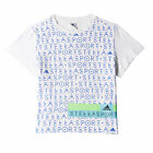 adidas Stellasport Womens Ladies Fitness Training Printed Shirt Tee White