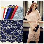 """Lace Fabric Embroidery Floral Wedding Bridal Dress Skirt Fabric Width 59"""" 1 yard"""
