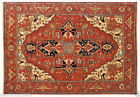 Indian Hand Knotted Heriz Serapi Oriental Wool Carpet Area Rug Teppich RUGS EDH
