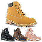 WOMENS LADIES HIKING BOOTS ANKLE DESERT TRAIL COMBAT CHELSEA WALKING SHOES SIZE