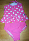 Juicy Couture designer baby girl swimsuit swim suit set 2 y 18-24 m BN pink dot