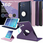 "Samsung Galaxy Tab E 9.6"" & Tab A 10.1"" 360° Rotating Stand Leather Case Cover"