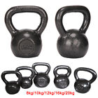 Cast Iron Kettlebell Strength Training Home Gym Fitness Kettlebells 8kg-20kg