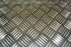 5 Bar Aluminium Chequer Plate / Tread Plate (Multiple Thickness and Sizes)