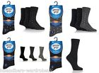 Mens Gentle Grip 3 Pair Pack Non Binding Wool Crew Dress Socks 6-11 UK