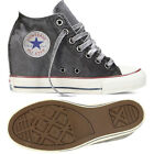 Converse Chuck Taylor All Star CT Lux Mid 547193C Grey Canvas Wedge Women Shoes
