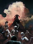 Sith Force Clone Troopers Battle Star Wars Painting Giant Wall Print POSTER