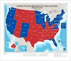 United States presidential election 2012, results by state Map Print