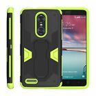 For ZTE ZMax Pro / Blade X Max Case Holster Belt Clip Stand Armor Green Cover