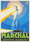 Vintage Art Deco 1920s French Lamp Poster Automobile Print Picture Retro Wall