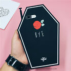 3D Cute Coffin Flower Bye Soft Silicone Back Cover Case For iPhone 6 6s 7 Plus