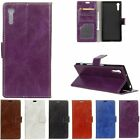 Luxury Flip Wallet Card Cash PU Leather Kickstand Case Cover For Sony Xperia