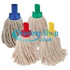 Exel Mop Heads 3 Pack Red - Green - Blue - Yellow 200g Cotton Yarn Push Fit