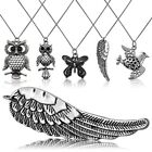 1 Necklace Chain with Pendant Owl Butterfly Elephant Wing Metal Children Jewelry