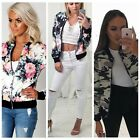 Womens Ethnic Embroidered Floral Print Short Jacket O neck Outwear Coat Blouse W