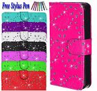 Diamond Bling Magnetic Flip Wallet PU Leather Case Cover For Samsung Galaxy S7