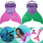 Kids Children Swimming Gear Wave Fins Diving Flippers Mermaid Shoes Tail Monofin