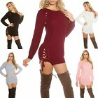 Women's Lace-Up Side Pullover Sweater - OS (S/M/L)