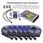 5050 RGB Dream Color 6803 LED Strip Black PCB + RF controller +Power adapter