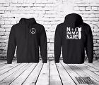 Not in my name ! ANTI WAR PROTEST zip hoodie UNISEX peace, no blood 4 oil