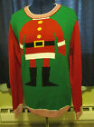 Mens Ugly Christmas Sweater Santa Size S M L XL