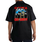 Dickies Black Mechanic Work Shirt Gotta Get Dirty 4x4 Monster Jeep Off Road