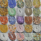 Faceted Natural Gemstones Round Spacer Loose Beads 15.5''4mm 6mm 8mm 10mm 12mm