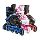 LED Roller Blades Kids Adjustable Inline Speed Skates Girls Size 1-4.5 US