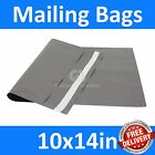 *10x14in* Grey Mailing Bags, Strong Poly Postal Postage Mail, Inc VAT, Free P&P