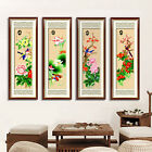 Chinese Four Noble Plants Four Seasons Flower and Birds Stamped Cross Stitch Kit