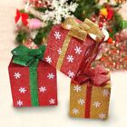 Set of 1/3 Santa christmas / Xmas Gift  boxes Indoor Decoration for Gift Present