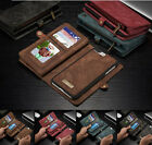 Leather Removable Zipper Wallet Flip Card Case Cover For Apple iPhone 7 / 7Plus