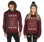 I'm The Nice / Naughty One Matching Christmas Sweater Top Jumper Xmas Ugly BFF