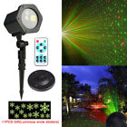 Outdoor Christmas Laser Projector Moving Light RG LED Star Garden stage Lighting