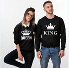 New Couple T-Shirt King and Queen - Love Matching Shirts - Couple Sweatshir Tops
