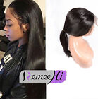 New Pre Plucked Peruvian Virgin Human Hair 360 Lace Frontal Band with Wig Cap