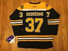 Patrice Bergeron  37 Boston Bruins Reebok Youth Black Stitched Premier Jersey