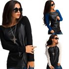 Womens Ladies Long Sleeve Shirt Casual Blouse Loose Cotton Tops T Shirt New