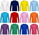 New Kids & Baby 100% Cotton Long Sleeve Basic T-Shirt All Colours.(Sz) 3~12 Age.