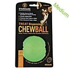 Starmark Treat Dispensing Fun Chew Ball ~ Medium 70mm ~ Green ~ Treats Available