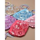 Girls Sequins Zip Purse Pretty Cute Sparkly + 4 Elastics Great For Party Bags