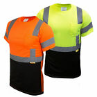 Hi Vis T Shirt Class 3  Work Safety Short Sleeve High Visibility -BFS8511/12 image