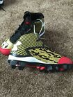 Under Armour Youth Deception Mid Baseball Cleats Gold/Black/Red NWOB