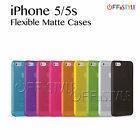 Colour Phone Case for iPhone 5 & 5s Matte PC Protection screen protector options