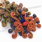 6color swirl Butterfly Sewing Chinese Frog Closure Knot Fastener Buttons Pick