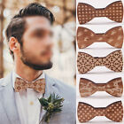Fashion Women Men Wooden Handmade Bow Tie Wood Bowtie Magnet Adults' Accessories